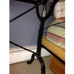 Image of Antique French Marble & Iron Bistro Console Table