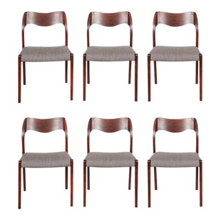 Mid Century 1960s Danish Rosewood Dining Chairs by Neils Moller