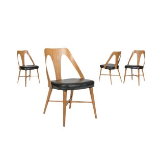 1960s Bentwood Dining Chairs - Set of 4