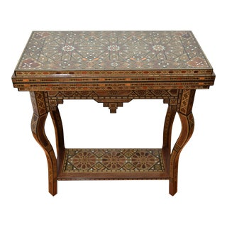 Syrian Marquetry Fruit & Rosewood Game Table