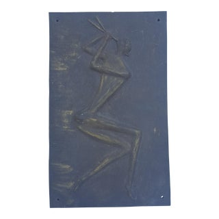 Vintage Figurative Pottery Wall Art Hanging.