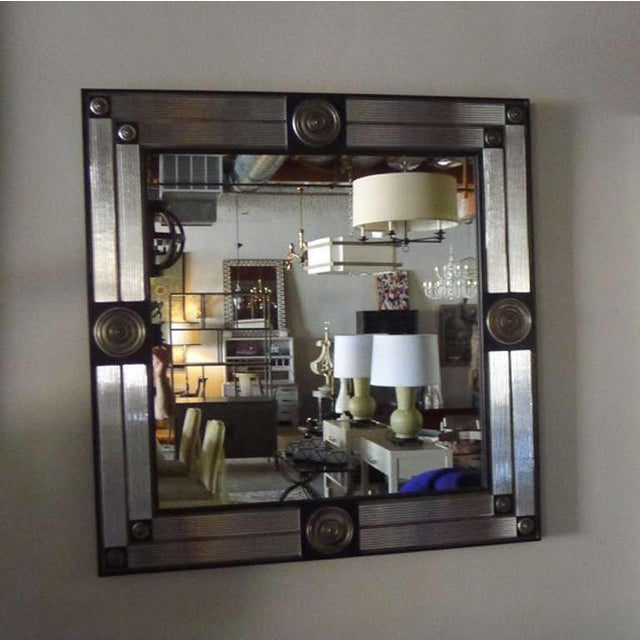 Customizable Paul Marra Medallion Mirror with Ribbed Glass - Image 2 of 8