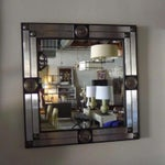 Image of Paul Marra Medallion Mirror with Ribbed Glass