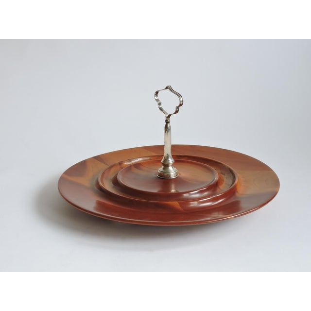 Image of Mid-Century Hors d'Oeuvres Sterling Silver Server