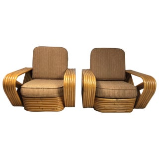 Paul Frankl for Kane Kraft Rattan Chairs - A Pair
