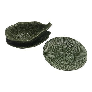 Portuguese Cabbage Leaf Serving Set - Set of 3