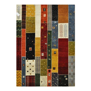 "Patchwork-Like Tribal Motifs Colorful Area Rug - 5'7"" X 7'10"""
