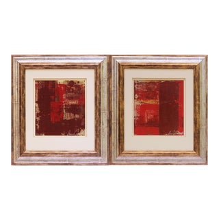 Original Abstract Oil Paintings - A Pair