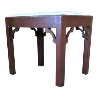 Madison Square Mahogany Chippendale Footstool