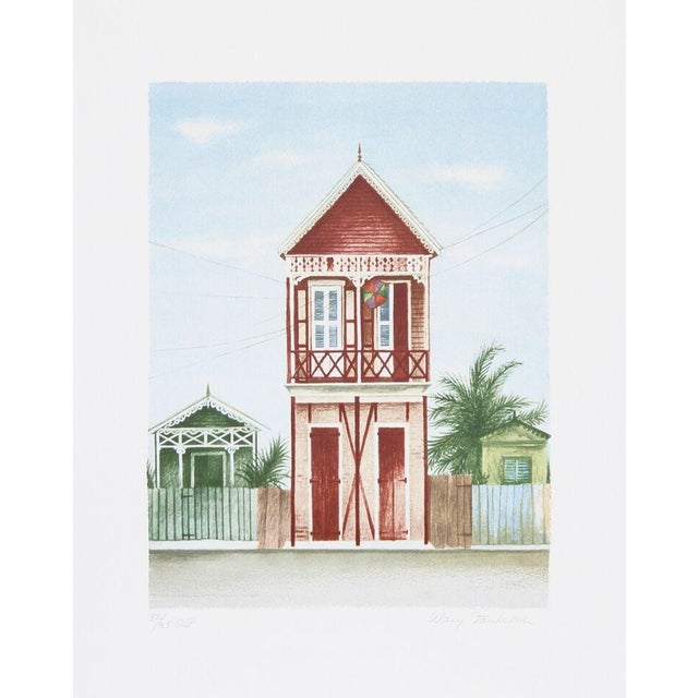 """Image of Mary Faulconer, """"Port Au Prince,"""" Lithograph"""