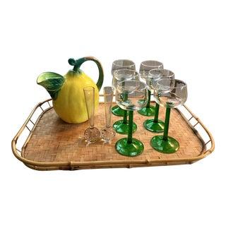 Mid-Century Modern Summer Barware Set - Set of 10