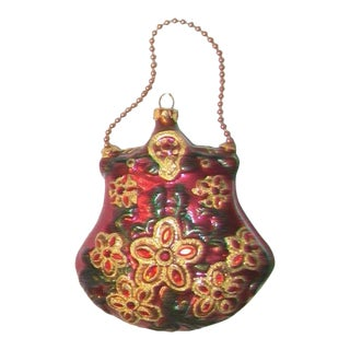 Victorian Style Purse Blown Glass Ornament
