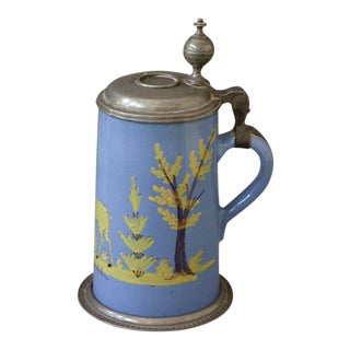 Blue Glazed Faience Tankard (#72-31D)