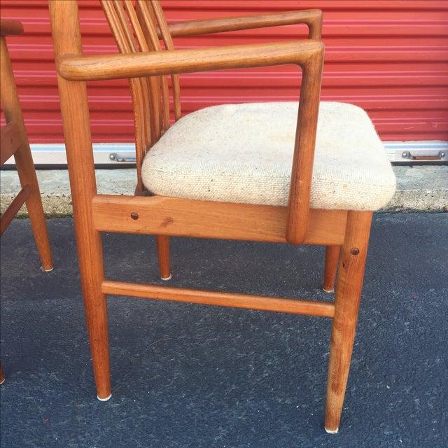 Danish Modern Style Teak Dining Chairs - Set of 6 - Image 11 of 11