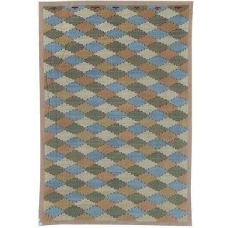 """Hand-Knotted Modern Kilim by Aara Rugs - 17'6"""" x 11'10"""""""