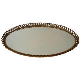 Vintage Gold Chain Mirror Tray