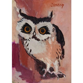 Modernist Owl Painting