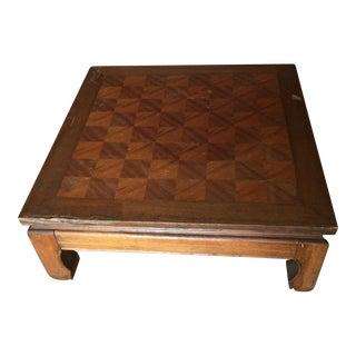 Wooden Pagoda Leg Floor Table