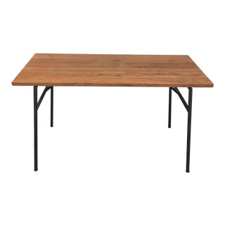 CB2 Solid Wood Top and Metal Frame Desk