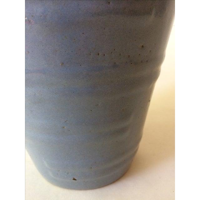 Machine Age Blue-Grey Flower Pot - Image 9 of 11