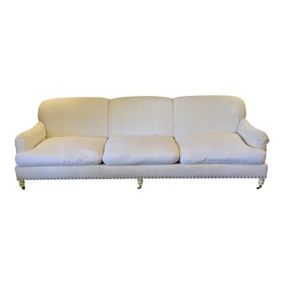 Lillian August White Linen Sofa