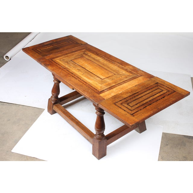 1920s Cherry Mahogany & Oak Coffee Table - Image 4 of 7