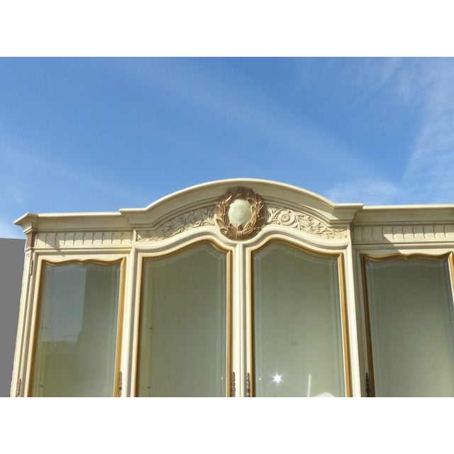 Image of Karges French Provincial Gilt Framed China Cabinet