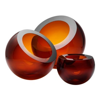 Anna Torfs Spherical Glass Vases - Set of 3