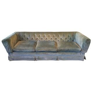 Henredon Teal Velvet Sofa