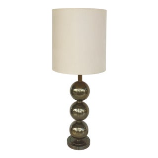 MCM Paul Hanson Brass Sphere Table Lamp