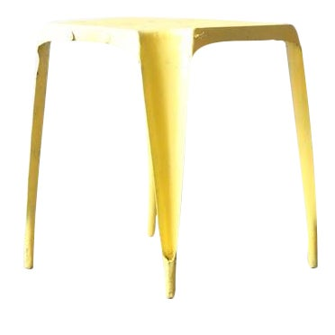 Image of Yellow Metal Side Table