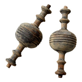 Antique Wood Balusters - Pair