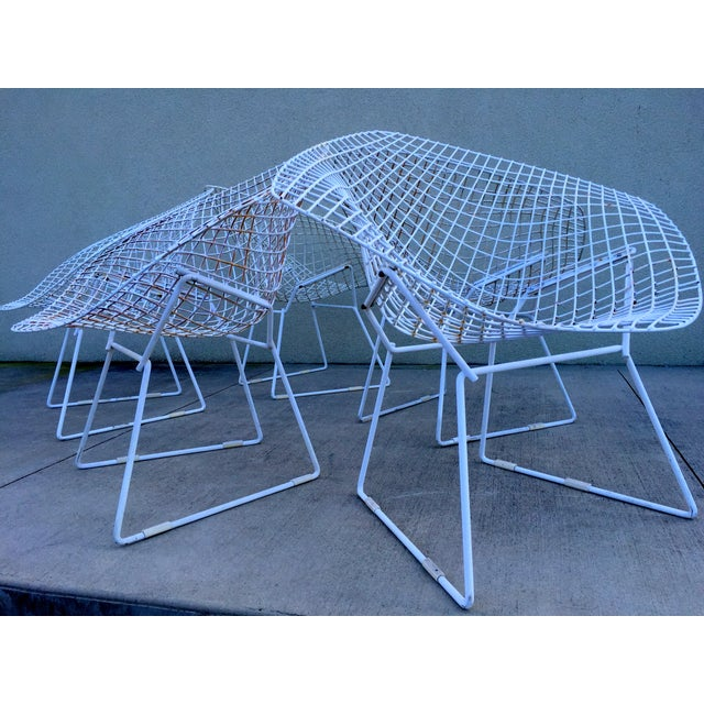 Harry Bertoia Mid-Century White Chairs - Set of 5 - Image 8 of 11