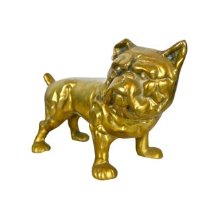 Solid Brass Bulldog Doorstop