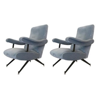 Pair of Reclining Lounge Chairs by Formanova