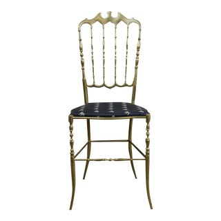 1950s Chiavari Brass Ballroom Chair