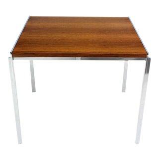 Mid-Century Modern Stow Davis Walnut & Chrome Coffee Table