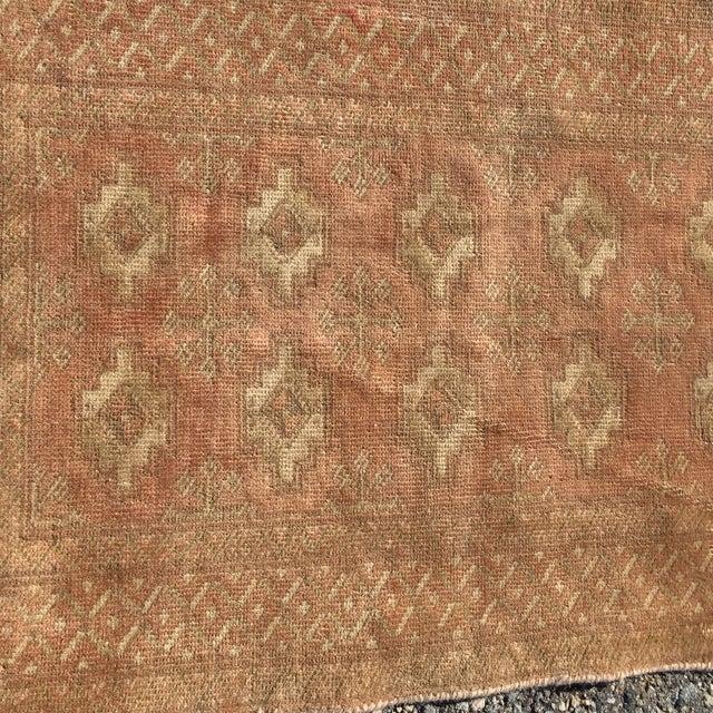 "Vintage Turkaman Brown Persian Rug - 2' x 2'11"" - Image 4 of 8"