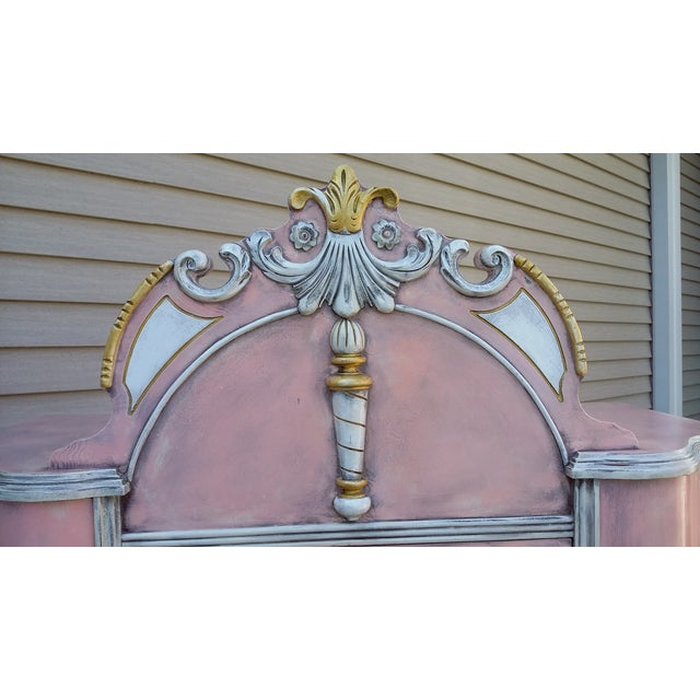 Antiqued Pink & Gold French-Style Dresser - Image 11 of 11
