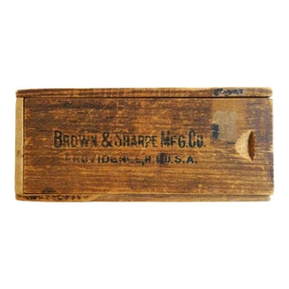 Primitive Wooden Caliper Box