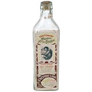 Vintage French Stomach Maladies Bottle