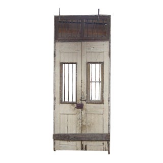 Early 1800's French ornate wooden double door