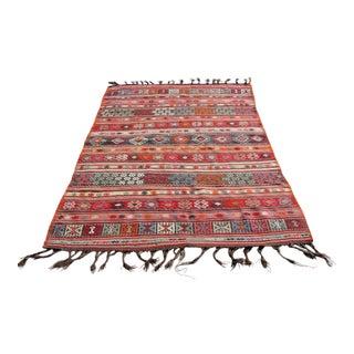 Vintage Turkish Kilim Rug - 4′11″ × 7′11″