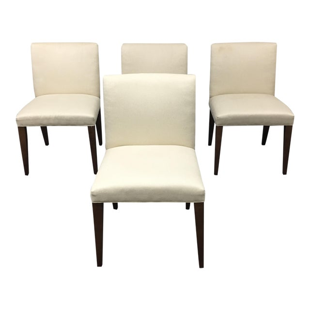 Image of Room & Board Marie White Dining Chairs - Set of 4
