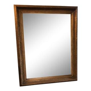 Oversized Beveled Mirror in Custom Gilt Frame