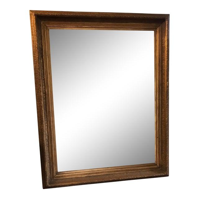 Oversized Beveled Mirror in Custom Gilt Frame - Image 1 of 9