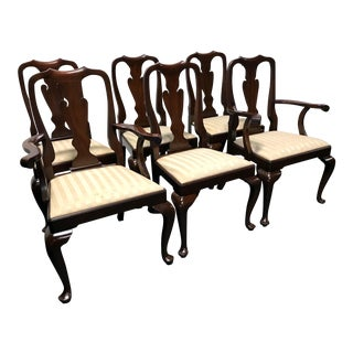 Henkel Harris Mahogany Queen Anne Dining Chairs - Set of 6