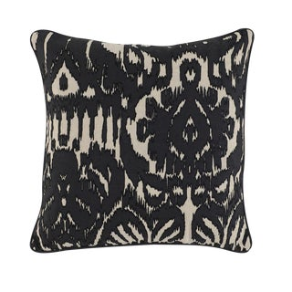 Black Abstract Linen Pillow