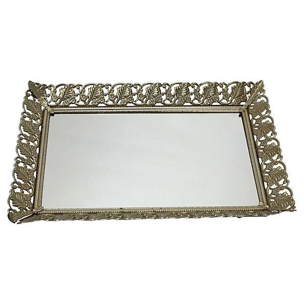 1950s Gold Filigree Vanity Tray - Image 2 of 4