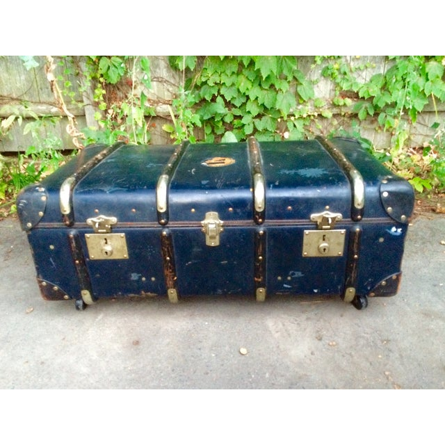 Image of Antique Steamer Trunk Coffee Table
